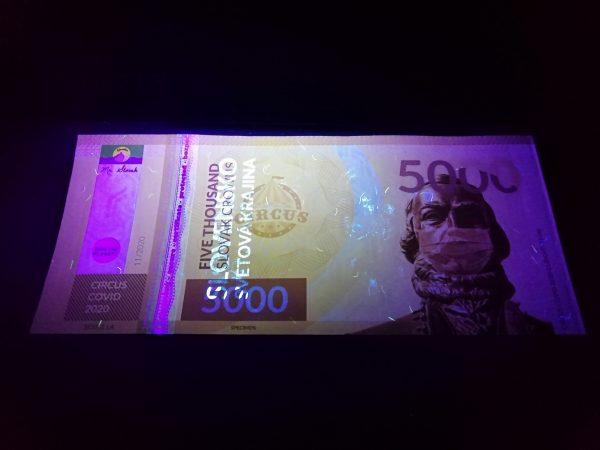 Pamätná bankovka - Circus Covid 2020 (Ľudovít Štúr)